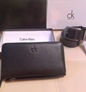Новый Клатч / Портмоне Calvin Klein. Кожа