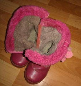 Сапожки зимние для девочки