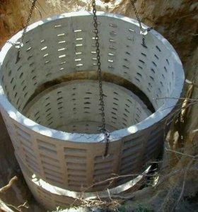 Монтаж сливных ям,канализации.