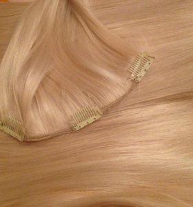 Волосы блонд на заколках 👸🏼