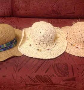 Шляпы 3 штуки