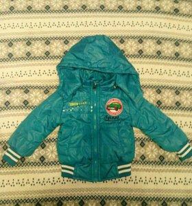Детская куртка осень/весна; можно носить до 92р-ра