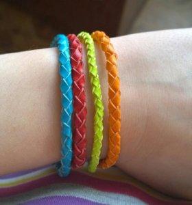 Разноцветные фенечки, плетеные браслеты
