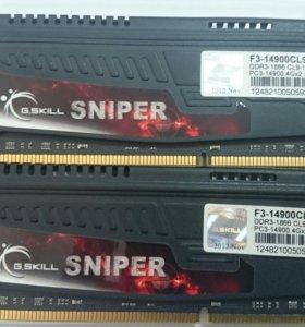 Память Sniper G.Skill DDR-3 2x4GB