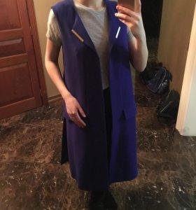 Пиджак длинный без рукав