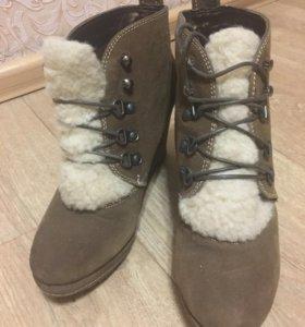 Замшевые весенние ботинки