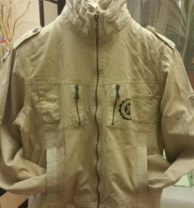 Куртка ветровка мягкий джинс