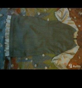 Платье 2слойное от Юдашкина. Шерсть/шелк