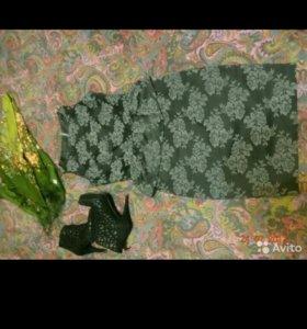 Платье Naf-naf черное. Хлопок.