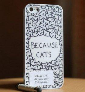 "Чехол на iPhone 5/5s ""Because cats"""