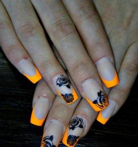 Качественное наращивание ногтей гелем