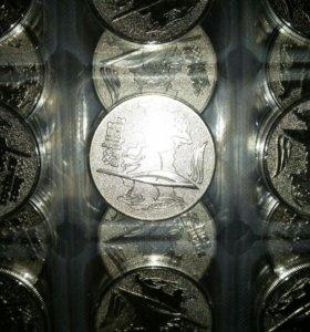 Монета UNC Сочи факел 25руб 25 руб