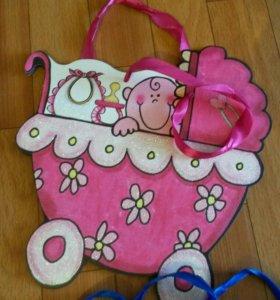 Пакетики подарочные для девочек и мальчиков