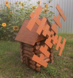 Садовые украшения из древесины для дачи