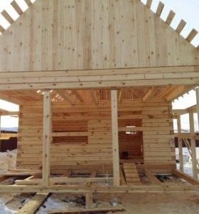 Строительство домов, бань и т.д.