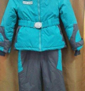 Зимний комбинезон + куртка на девочку. Новый.