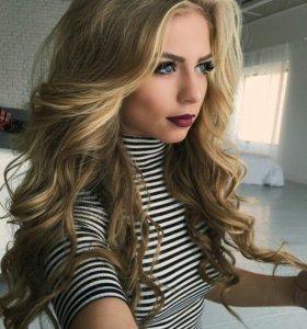 Укладки на длинные и среднии волосы.