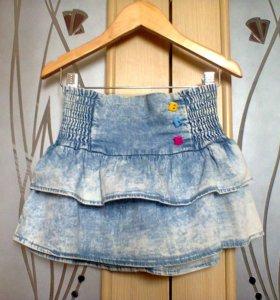 Юбочка джинсовая 4-5лет рост 110