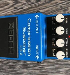 Boss cs-3 гитарная педаль компрессор