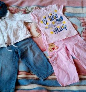 Пакет одежды для девочки на 1,5-2,5года