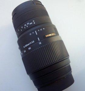 Sigma dg 70-300mm 1.4-5.6