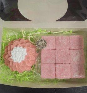 🎁 Подарок : мыло георгин+скраб ручной работы!