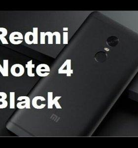 Xiaomi Redmi note 4 Новый (Full black)