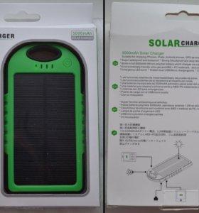 Внешний Солнечный аккумулятор 5000mAh