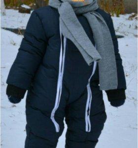 Тёплый зимний комбинезон