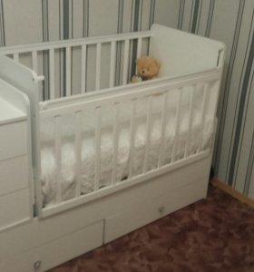 Детская кроватка с матрасом или отдельно