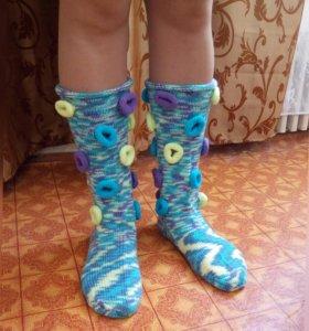 Носки вязанные.