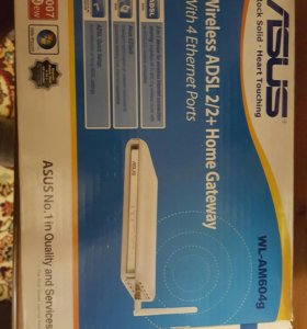 Asus wireless adsl 2/2+ home gateway wl-am604g