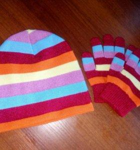 Комлект шапочка и перчатки