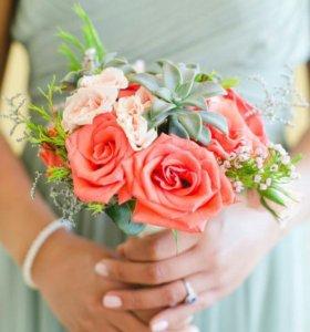 Букет невесты,оформление зала,свадебная флористика