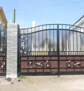 Ворота кованые в-116