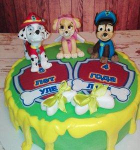 Торт с героями мультфильмов и сказок