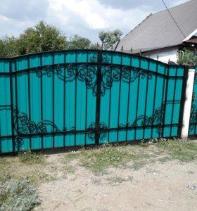 Ворота кованые в-32