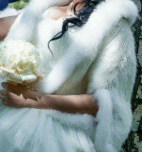 Болеро, норка, свадьба, накидка