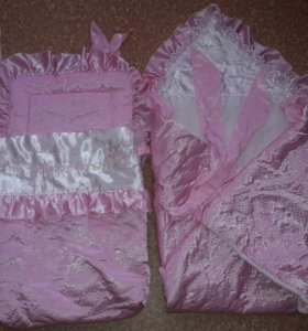 Комплект на выписку одеяло+конверт