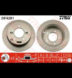 Диск тормозной задний новый DF4281