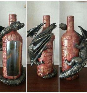 Подарочное декорирование бутылок