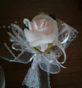 Красивая повязка на шампаньское для свадьбы