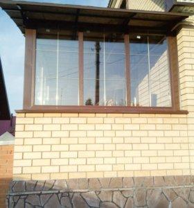 Пластиковые окна, натяжные потолки.