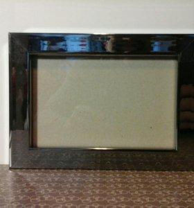 Фоторамка зеркальная для 10х15см, дерево+аллюмин