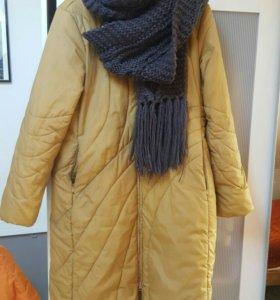 пуховик зимний 46-48 шарф в подарок
