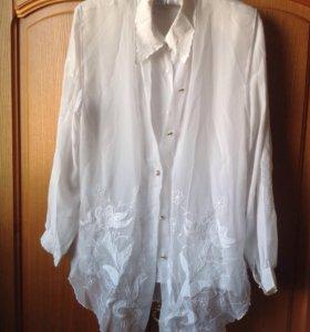 Блузка женская с жилеткой 48р
