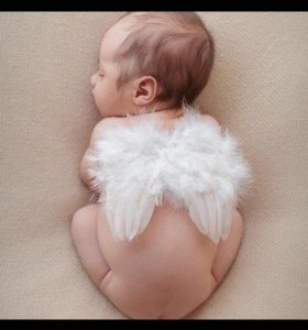 Крылышки для малышей + нимб из перьев