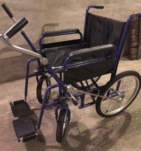 Инвалидная коляска с рычажным управлением,новая