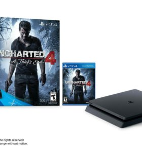 sony playstation 4 1tb + uncharted 4
