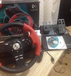 Игровой руль Logitech Formula Force EX (новый).